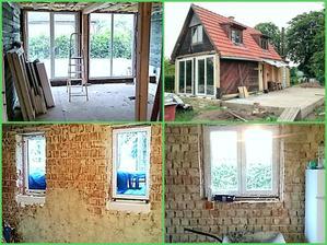 tak nová okna osazená :-) za den hotové :-)