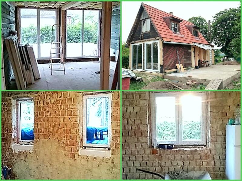 Naše chaloupka a zahrádka - tak nová okna osazená :-) za den hotové :-)