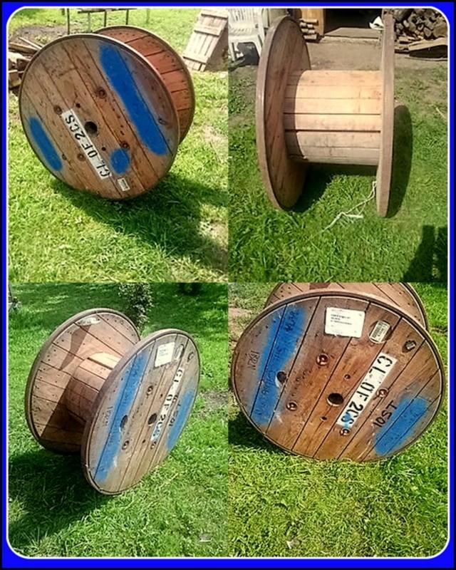 Naše chaloupka a zahrádka - cívku vytuním a bude z ní odkládací stolek do obyváku :-)