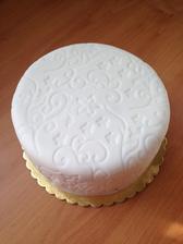Zkušební svatební dortík..