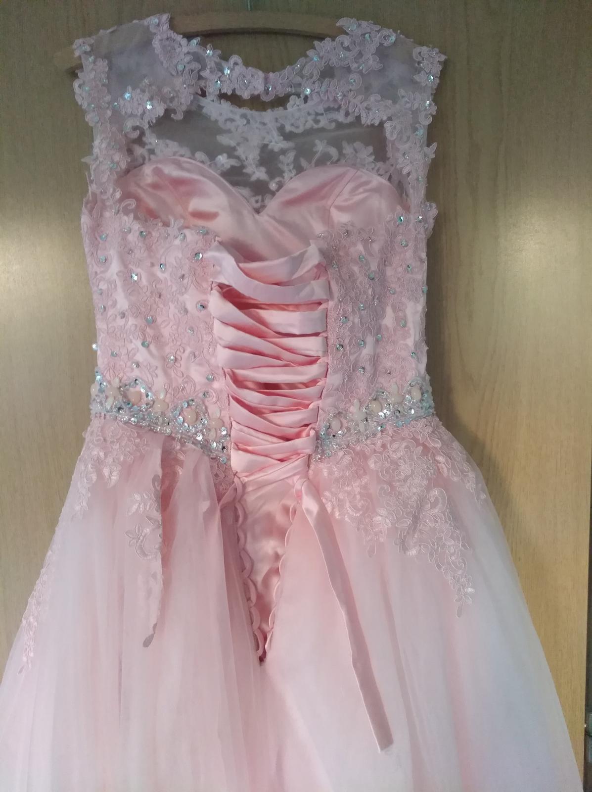 bledoružové  svadobné šaty - Obrázok č. 2