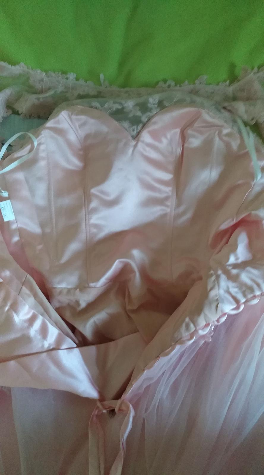 bledoružové  svadobné šaty - Obrázok č. 4