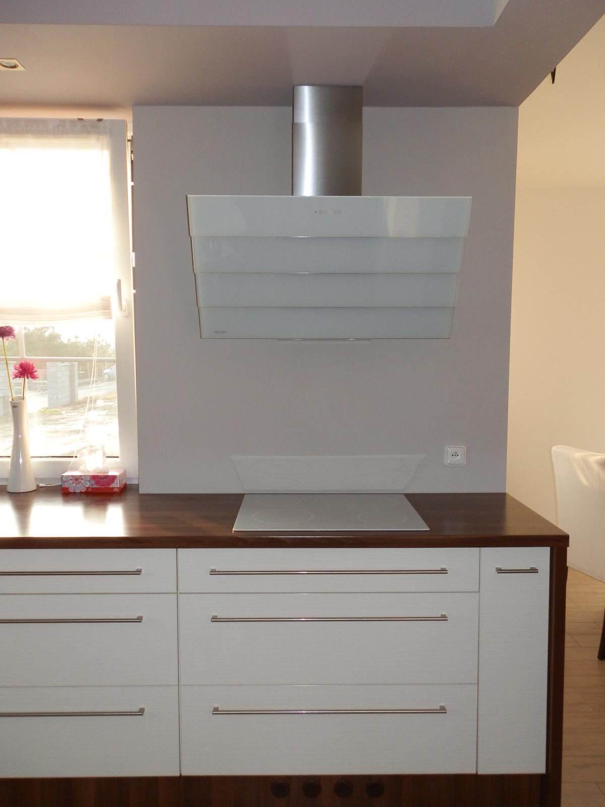 Naše kuchyň :-) - Konečně digestoř :-) Tak ještě vybrat obklad...