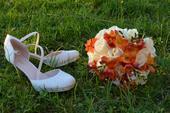 Svadobné topánky so swarovským, 40