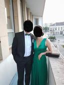 smaragdovozelené spoločenské šaty, 36