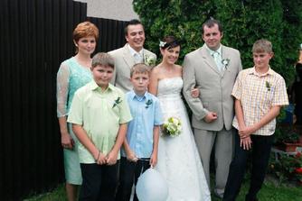 Brat Lubo s rodinou