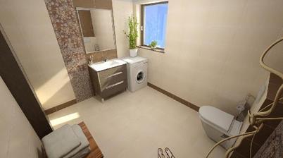 Návrh spodní koupelny - Siko