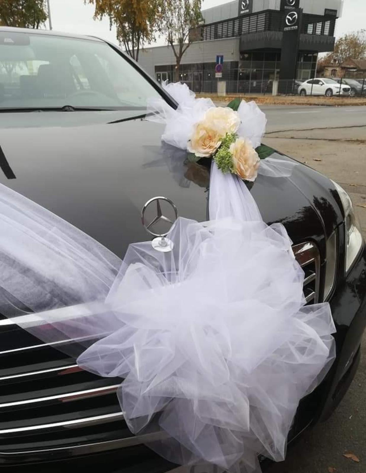 výzdoba svadobného auta - Obrázok č. 3