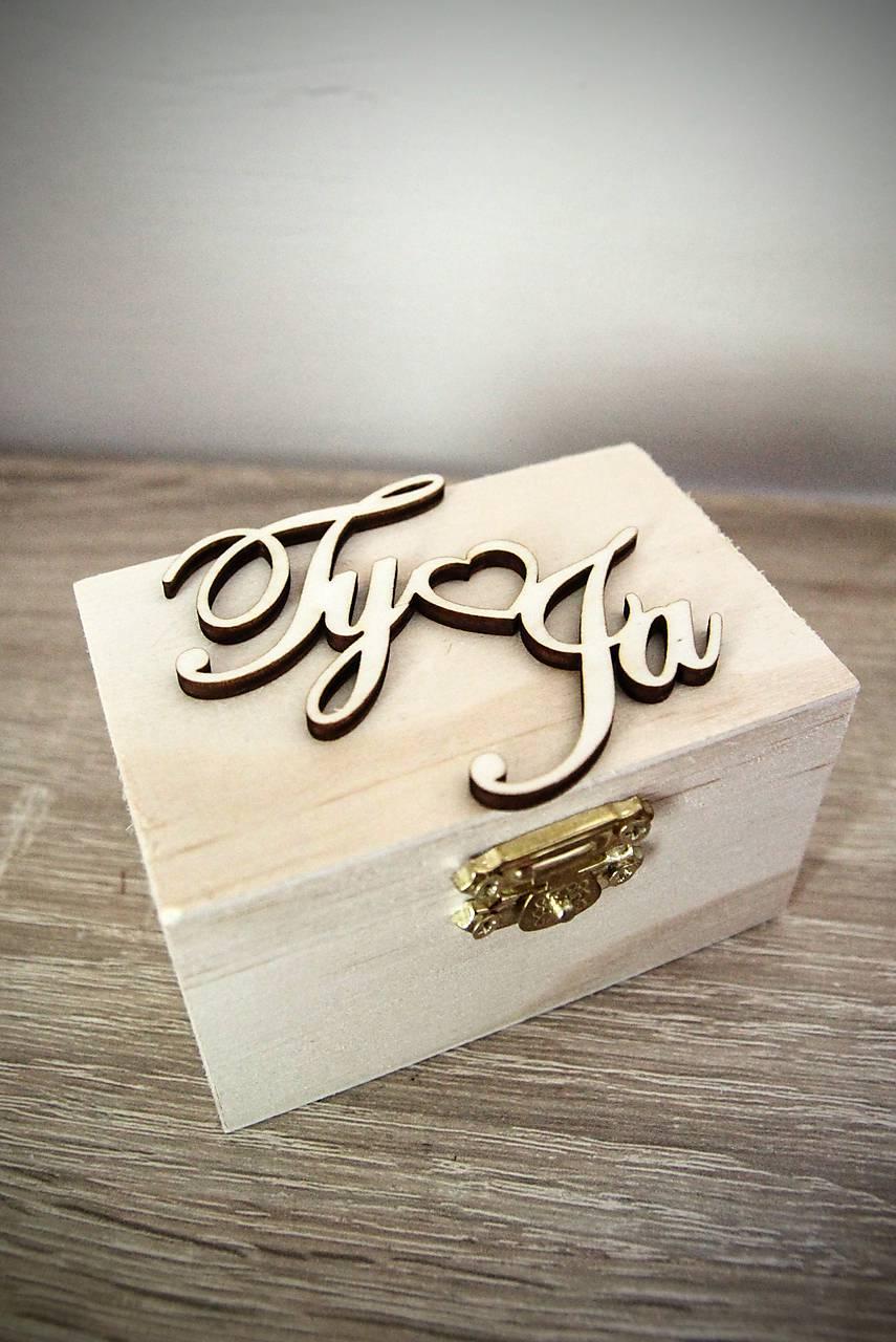 krabička na obrúčky s vlastným dátumom svadby - Obrázok č. 1