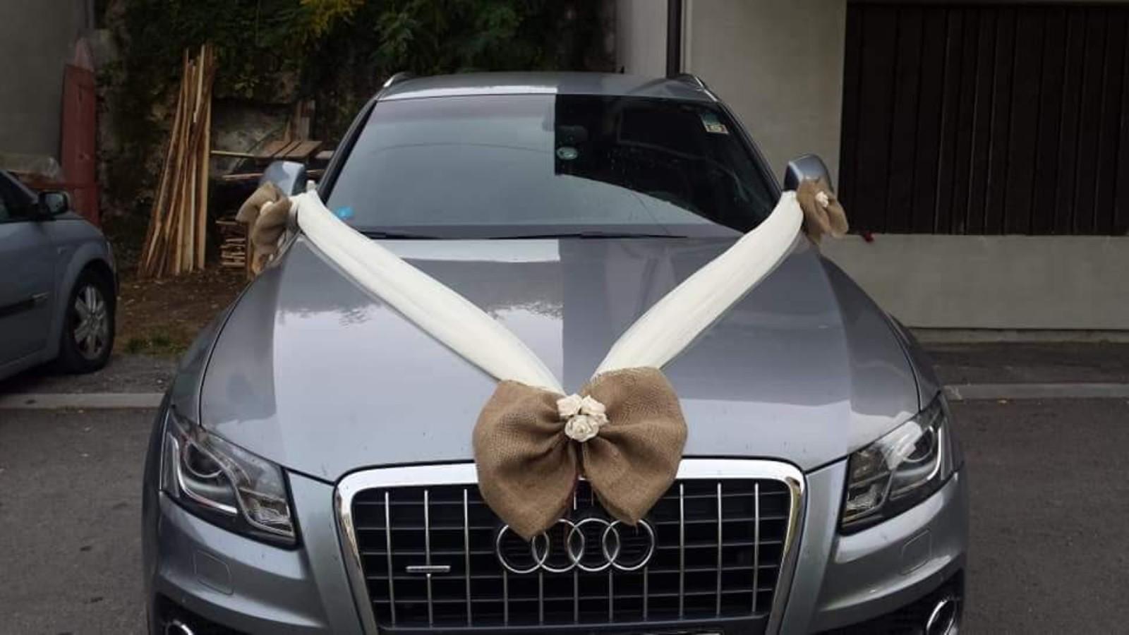 výzdoba svadobného auta vintage - Obrázok č. 1