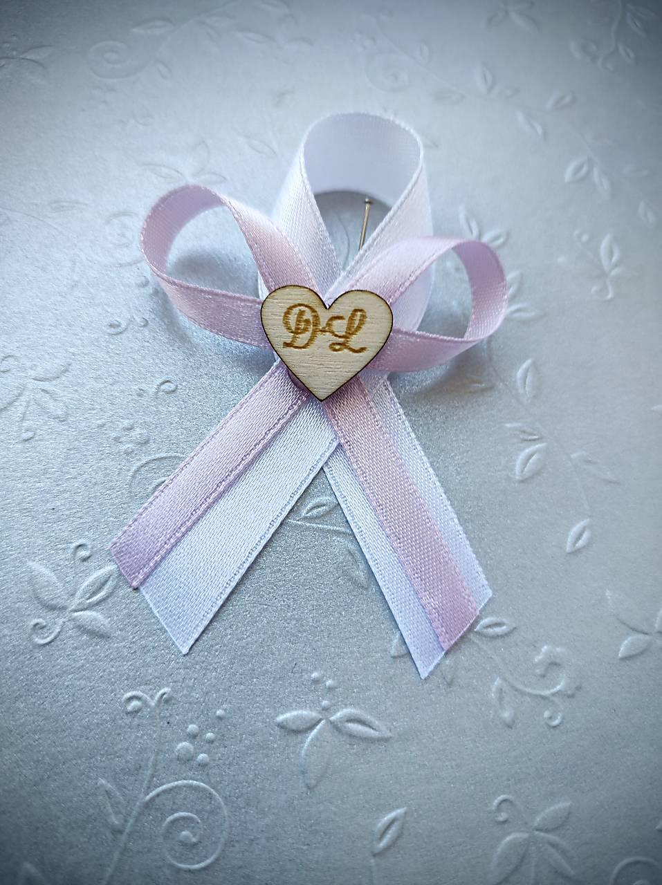 svadobné pierka s iniciálmi - Obrázok č. 1