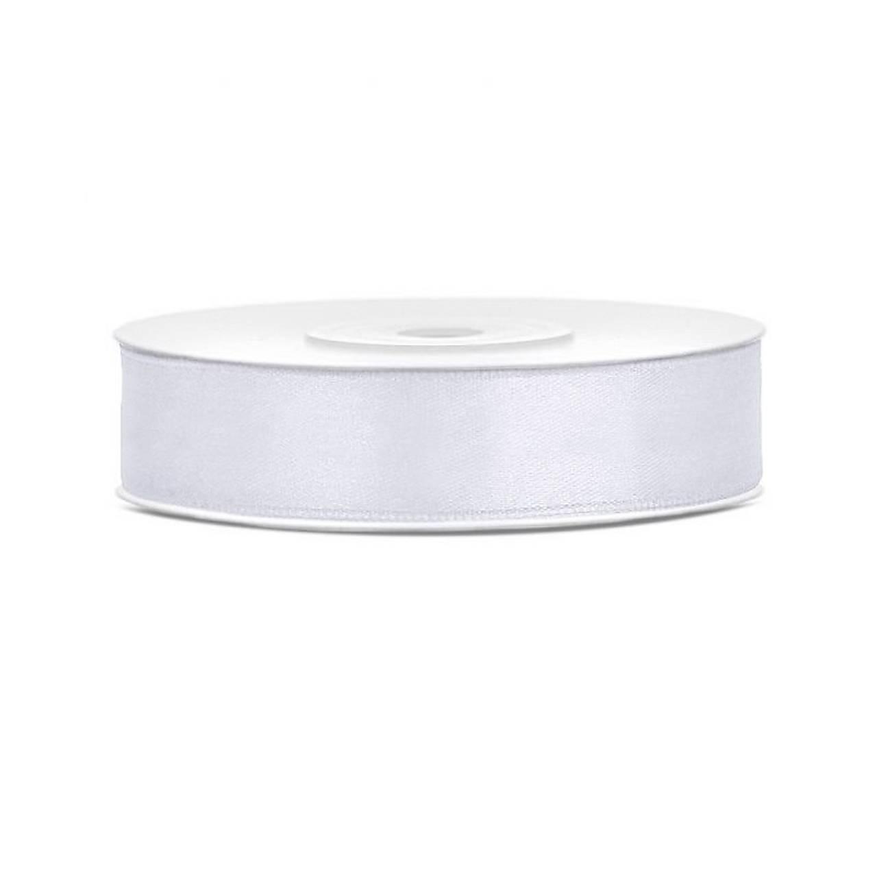 saténová stuha 25 mm biela - Obrázok č. 1