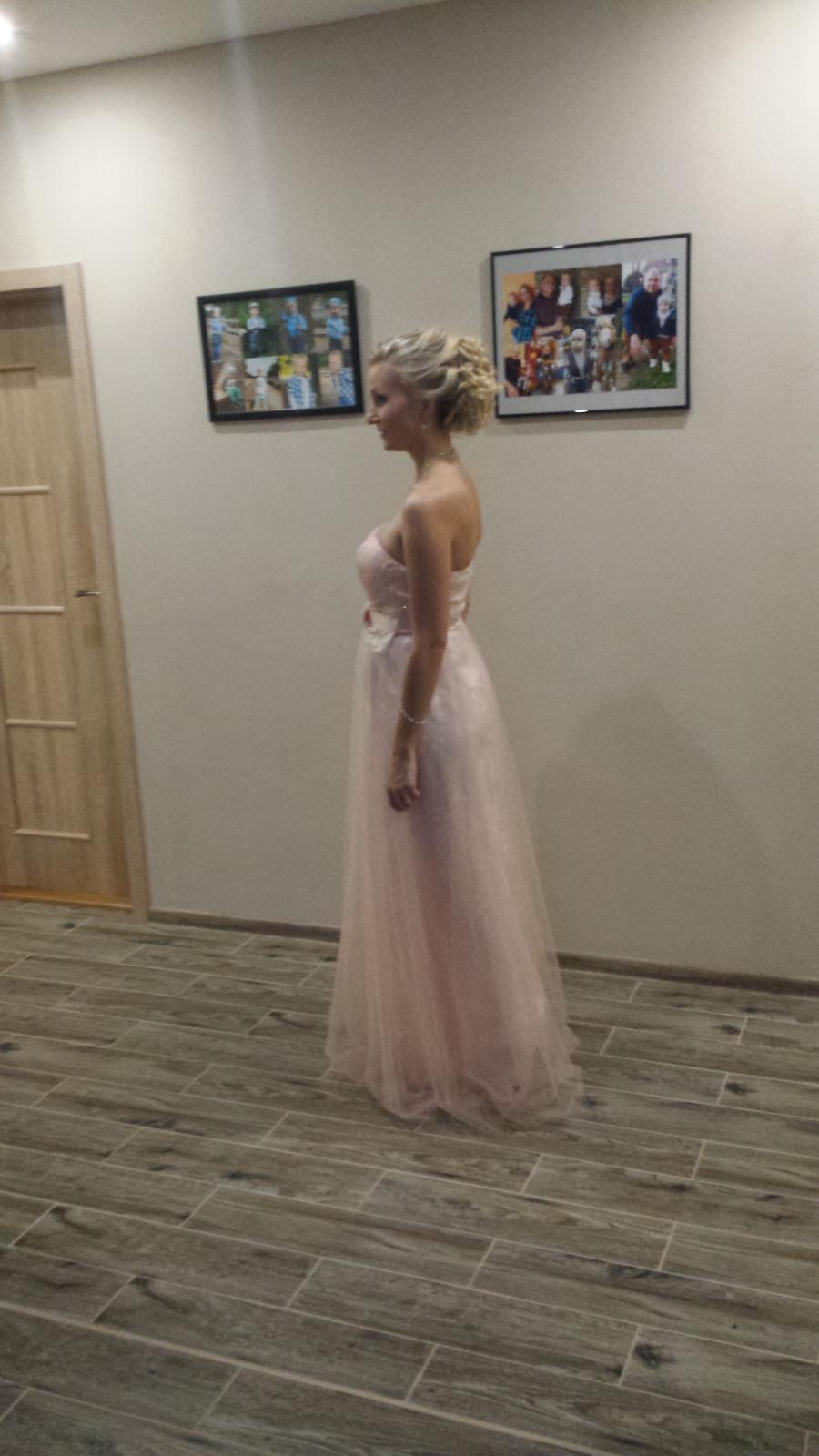 Ružové spoločenské šaty - Obrázok č. 2