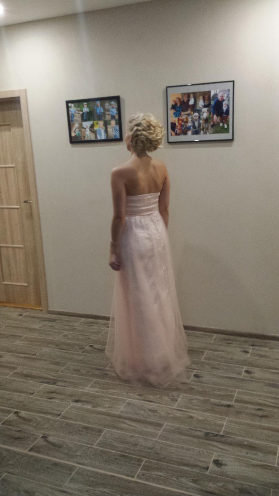Ružové spoločenské šaty - Obrázok č. 3