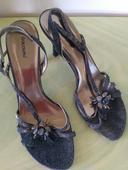 Stříbrno šedé páskové sandály Graceland, 40