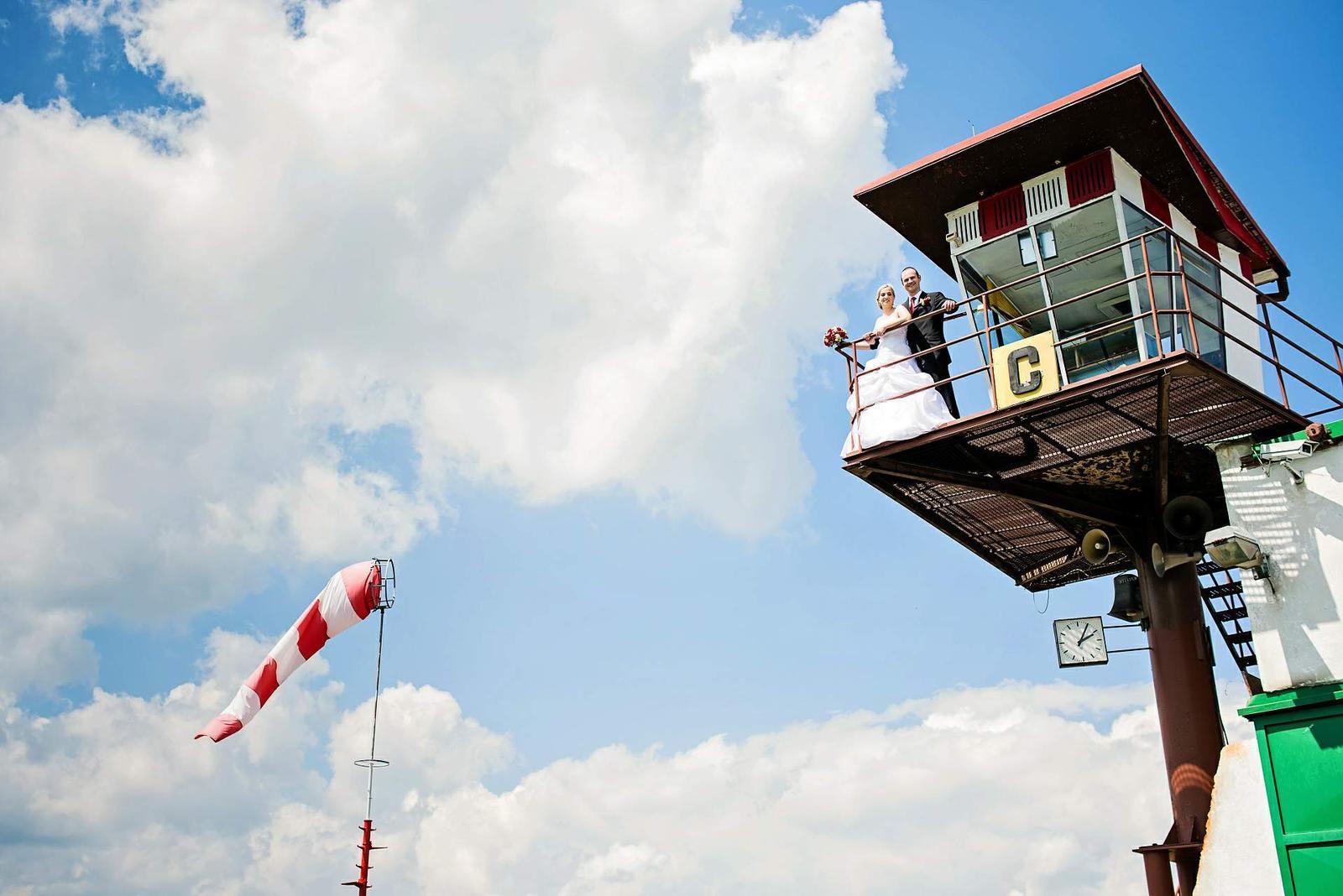 Jitka{{_AND_}}Michal - Takový malý výšlap na řidící věž, samozřejmě bez bot....