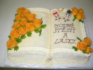 Tak takovýto dort bude jako poděkování pro rodiče...
