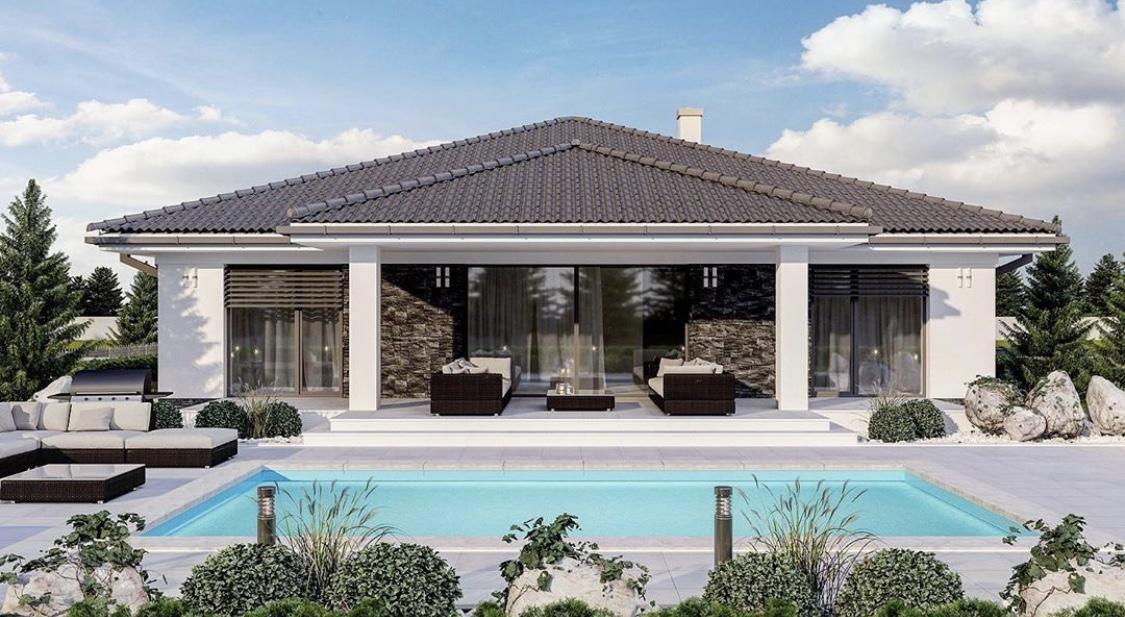 Predstavy a plány ..... - Presne takto si predstavujem bazén pozdĺž domu