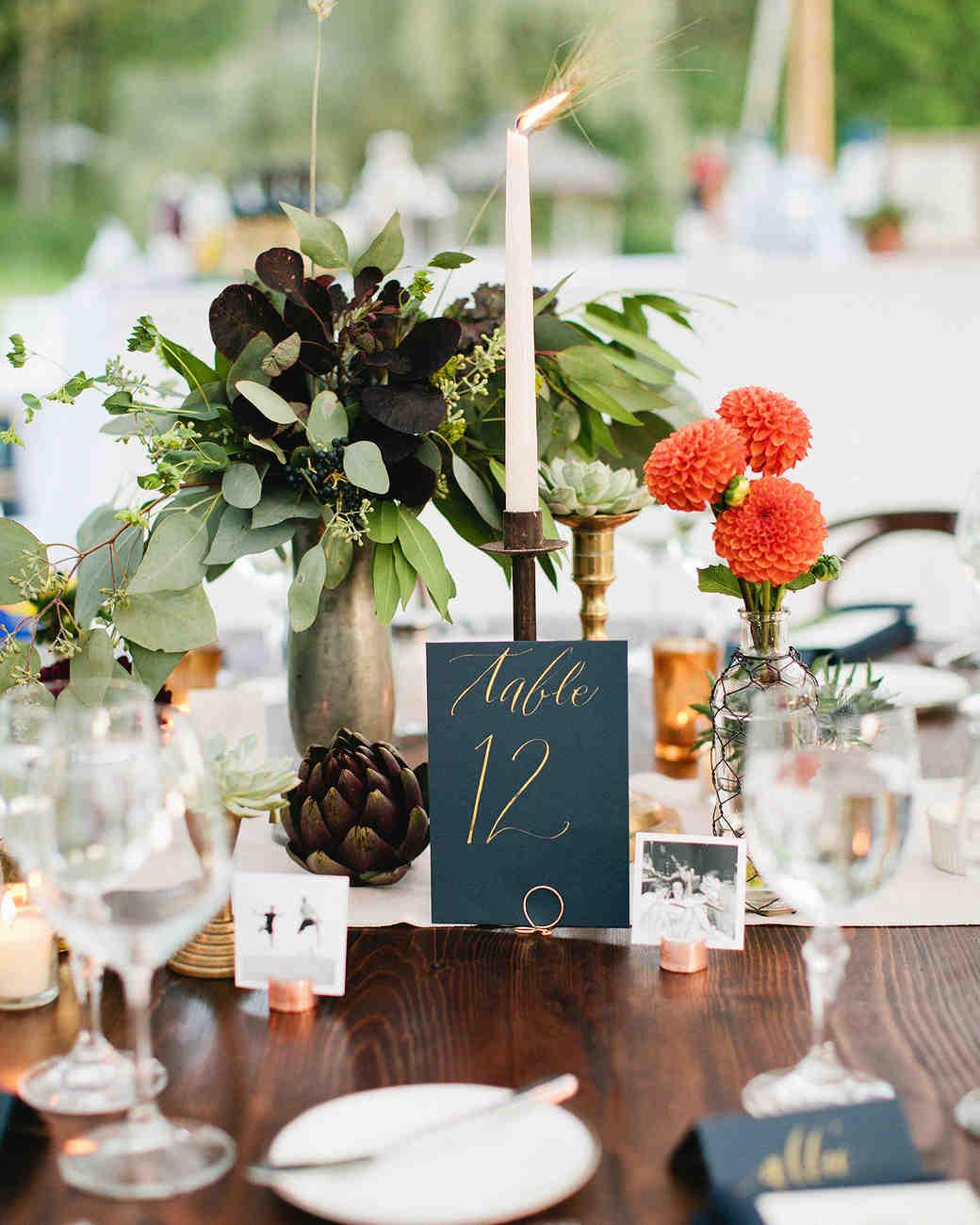 Nápady na číslování svatebních stolů - Obrázek č. 17