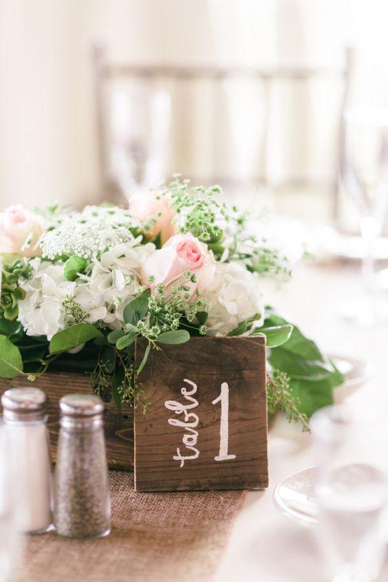 Nápady na číslování svatebních stolů - Obrázek č. 21