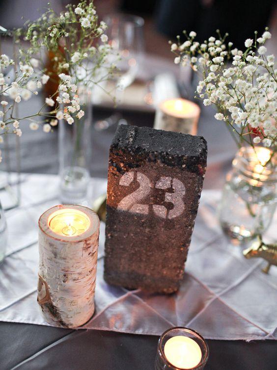 Nápady na číslování svatebních stolů - Obrázek č. 24