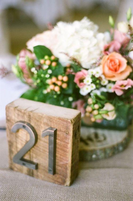 Nápady na číslování svatebních stolů - Obrázek č. 25