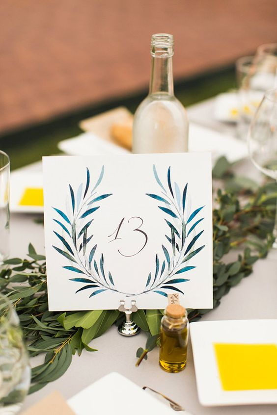 Nápady na číslování svatebních stolů - Obrázek č. 28