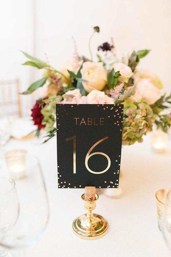 Nápady na číslování svatebních stolů - Obrázek č. 30