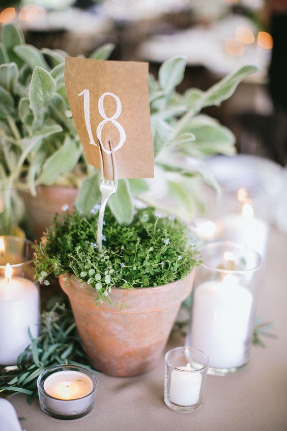 Nápady na číslování svatebních stolů - Obrázek č. 34