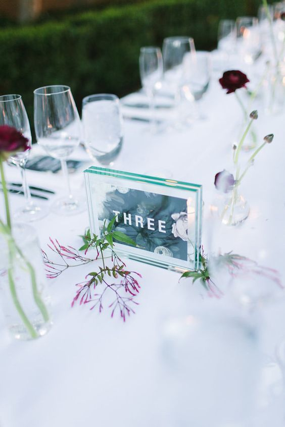 Nápady na číslování svatebních stolů - Obrázek č. 37