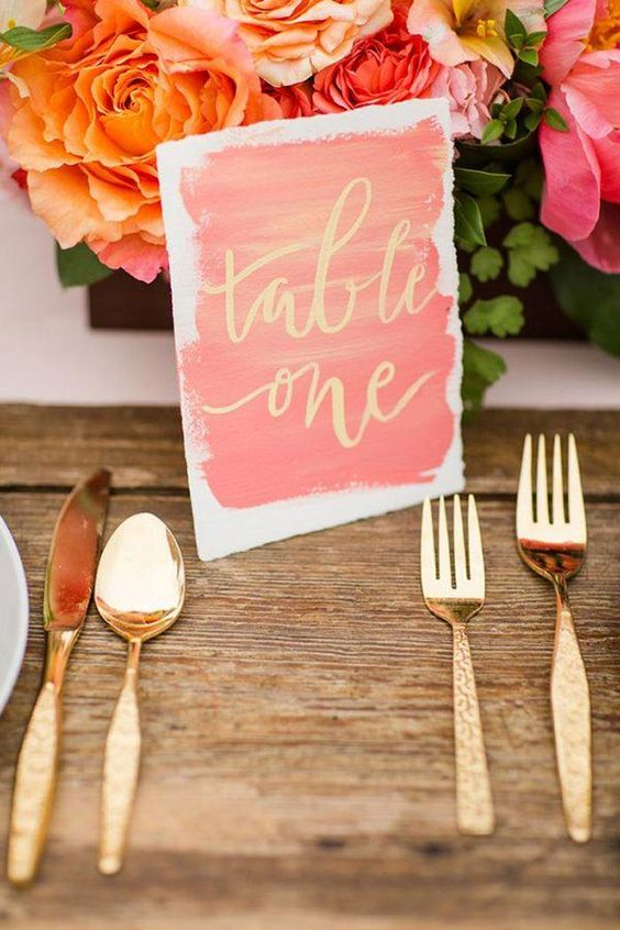Nápady na číslování svatebních stolů - Obrázek č. 40