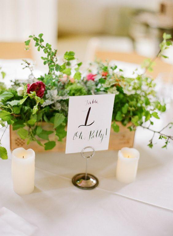 Nápady na číslování svatebních stolů - Obrázek č. 48