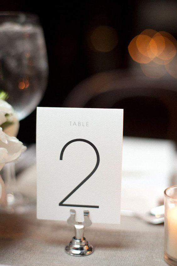Nápady na číslování svatebních stolů - Obrázek č. 49
