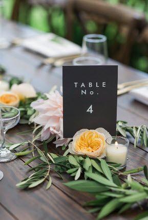 Nápady na číslování svatebních stolů - Obrázek č. 50