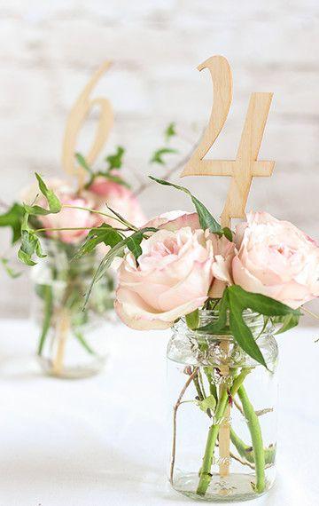 Nápady na číslování svatebních stolů - Obrázek č. 53