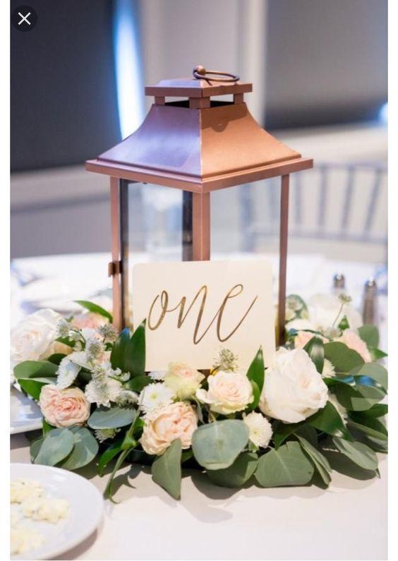 Nápady na číslování svatebních stolů - Obrázek č. 56
