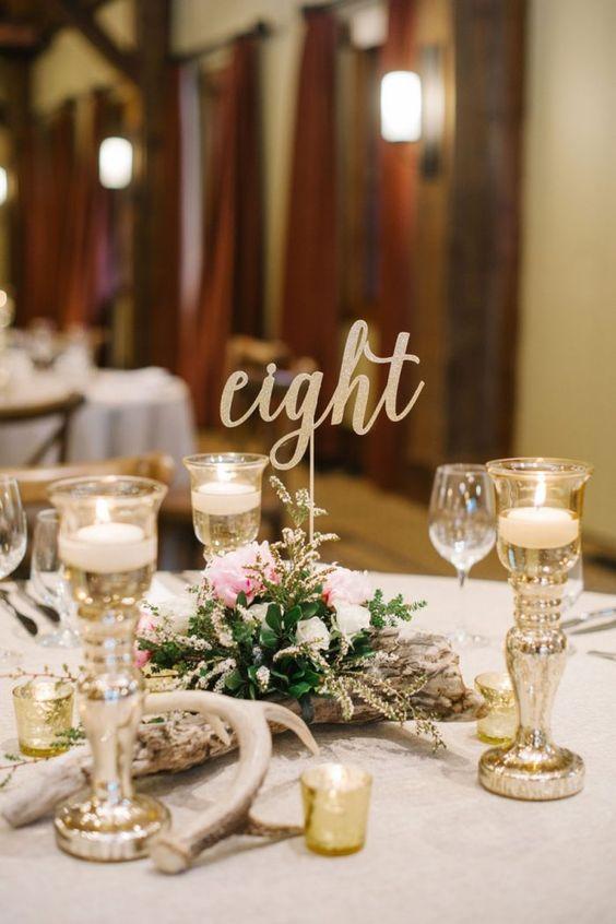 Nápady na číslování svatebních stolů - Obrázek č. 58