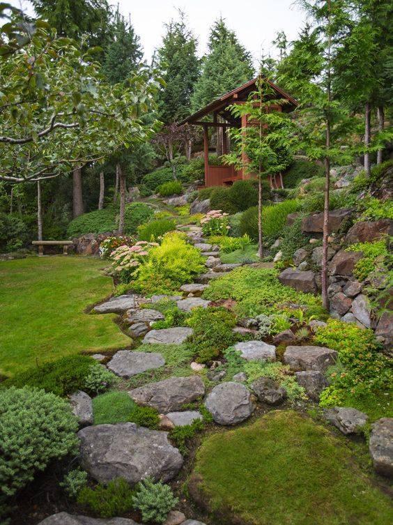 Zahrada ve svahu - inspirace - Obrázek č. 31