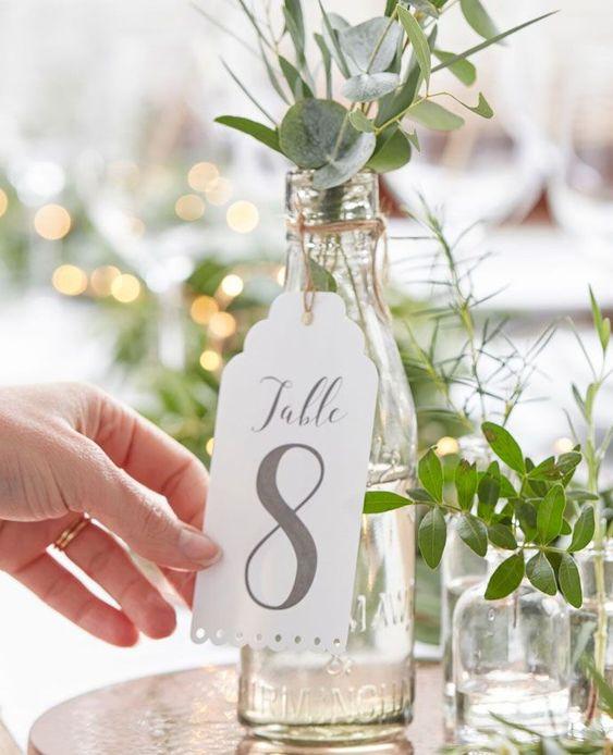 Nápady na číslování svatebních stolů - Obrázek č. 61