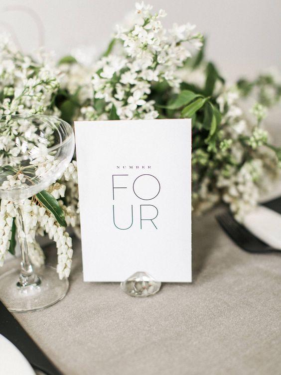 Nápady na číslování svatebních stolů - Obrázek č. 60