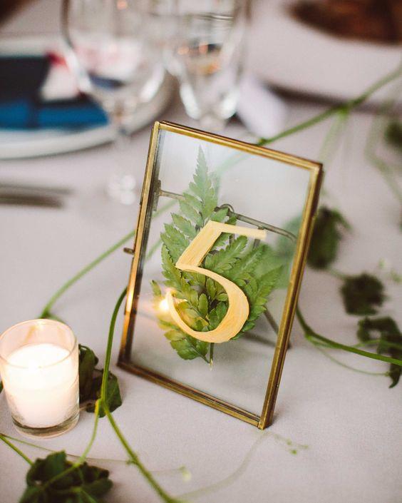 Nápady na číslování svatebních stolů - Obrázek č. 66