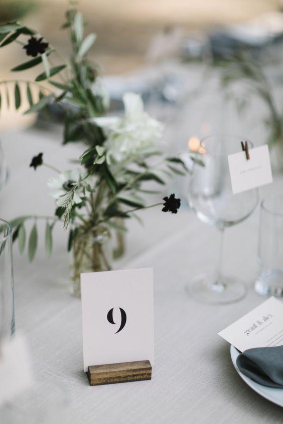 Nápady na číslování svatebních stolů - Obrázek č. 59