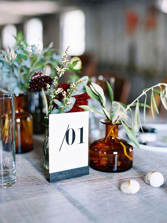 Nápady na číslování svatebních stolů - Obrázek č. 73