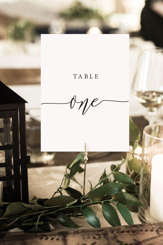 Nápady na číslování svatebních stolů - Obrázek č. 75