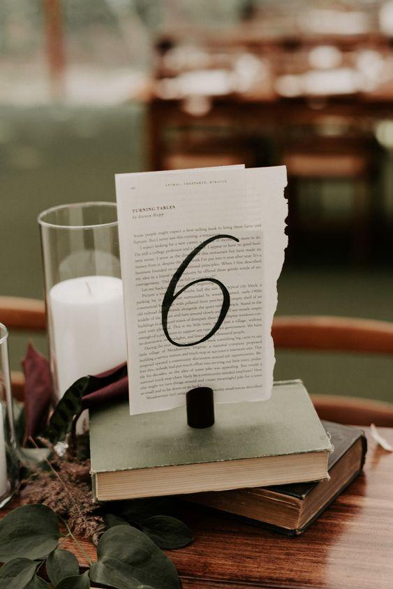 Nápady na číslování svatebních stolů - Obrázek č. 72