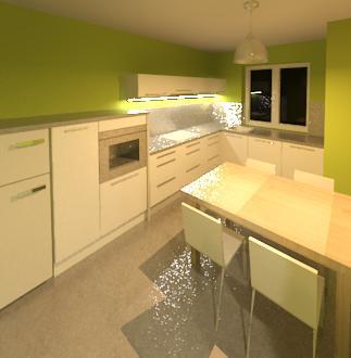 Byt - kuchyna navrh