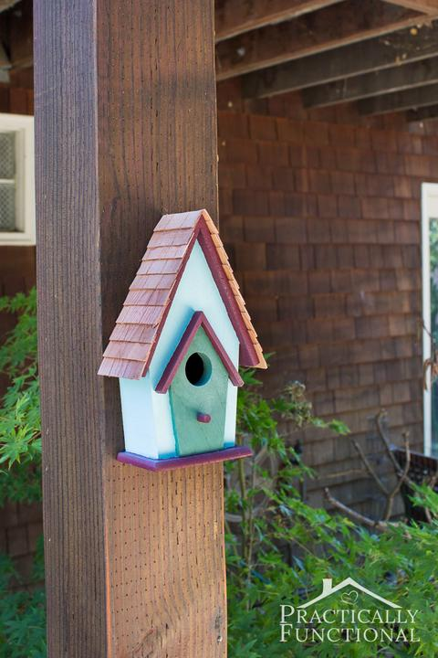 Http://www.practicallyfunctional.com/backyard-decorating-painted-birdhouse/