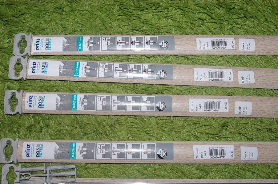 4ks Podlahové lišty hliníkové - dub biely  - Obrázok č. 1