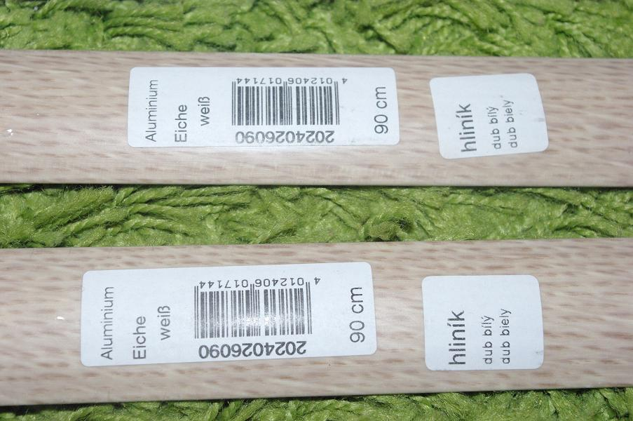 4ks Podlahové lišty hliníkové - dub biely  - Obrázok č. 2