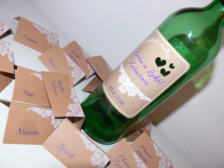 Svadobná priprava - Menovky,etikety